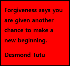Forgiveness – The Big Picture